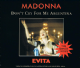 MADONNA Don't Cry For Me Argentina CD Single Warner Bros. 1996.